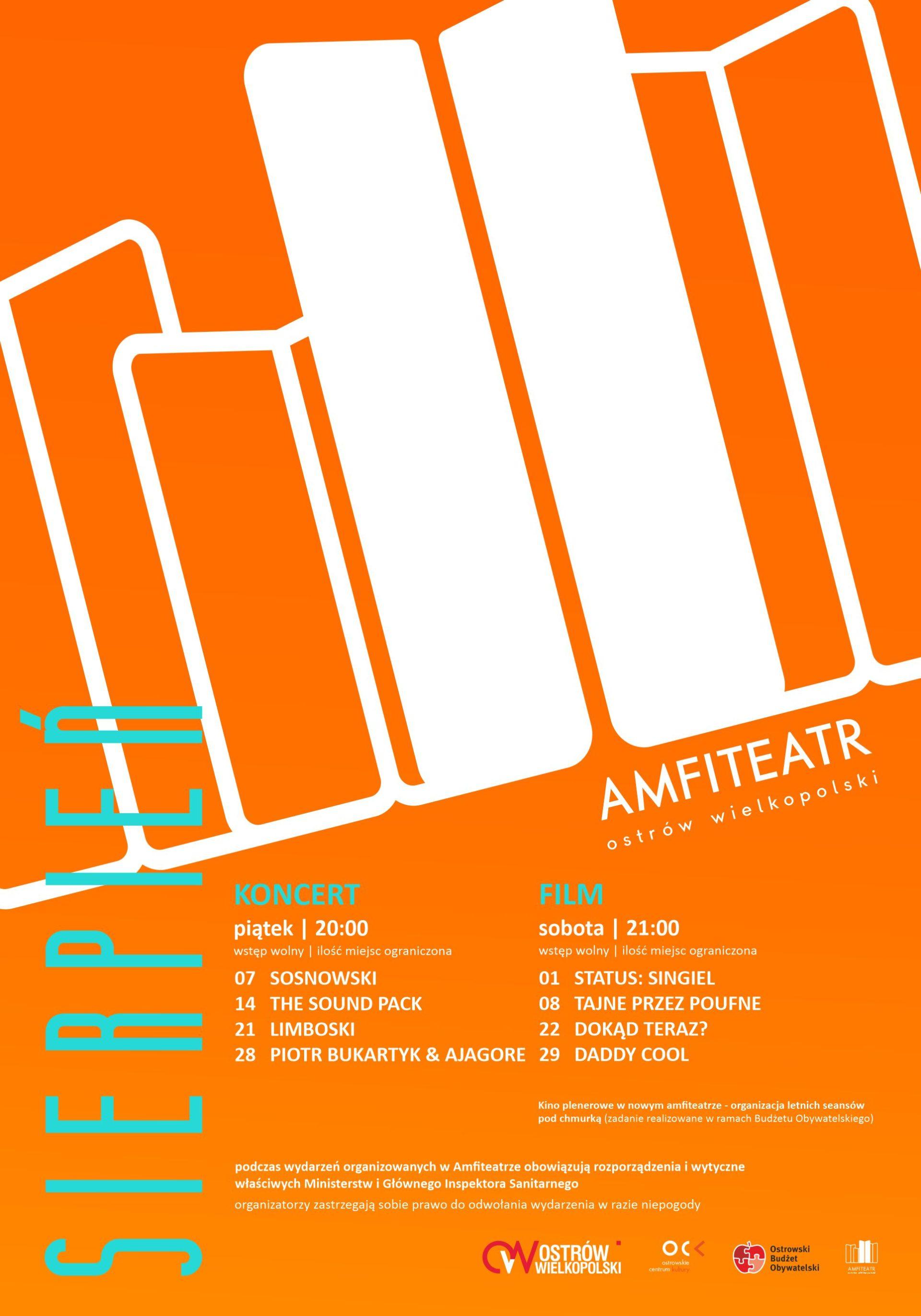 Koncerty i seanse filmowe | Amfiteatr Ostrów Wielkopolski