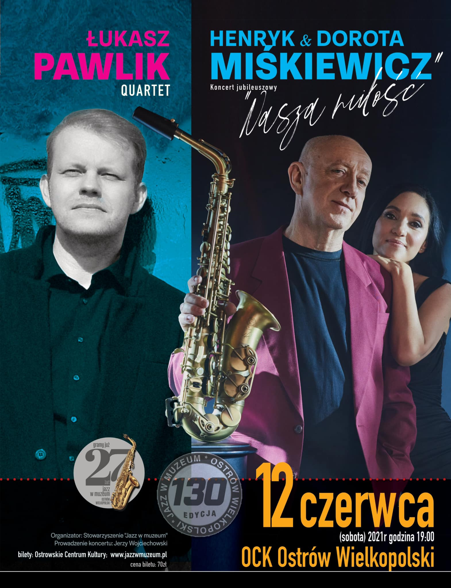 Jazz w muzeum | Łukasz Pawlik Quartet / Henryk Miśkiewicz i Dorota Miśkiewicz