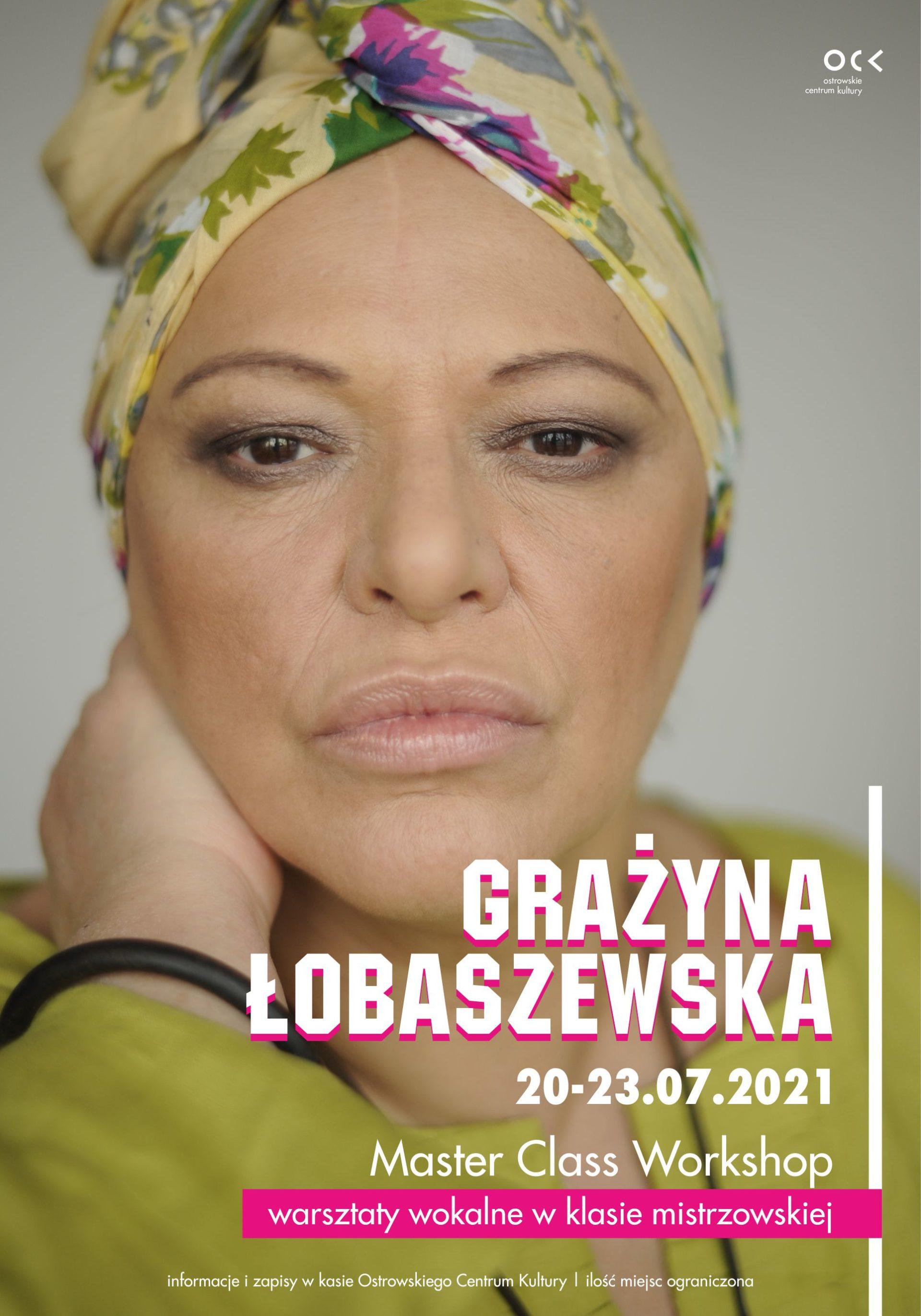 GRAŻYNA ŁOBASZEWSKA   warsztaty wokalne w klasie mistrzowskiej z koncertem finałowym
