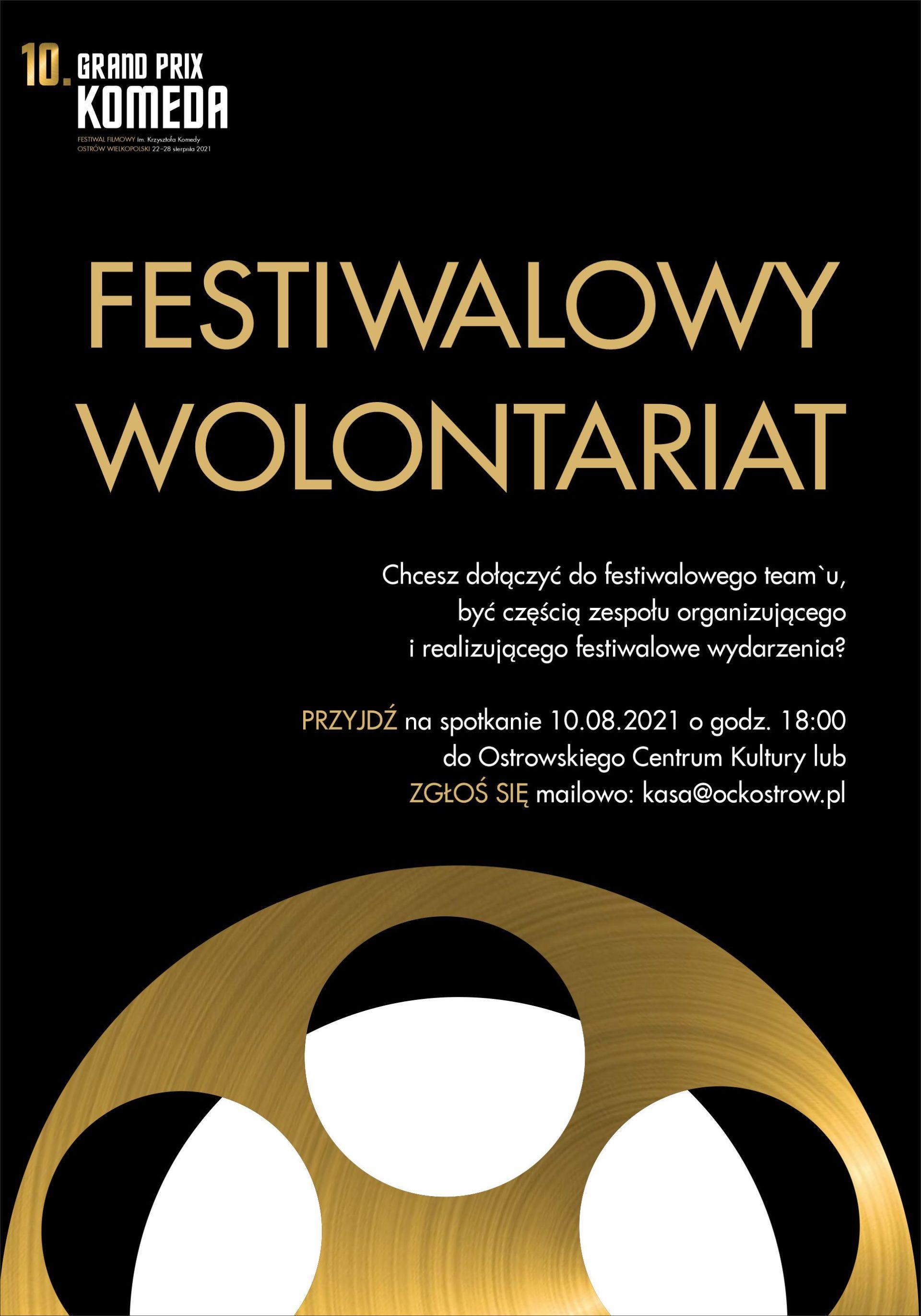 10. Grand Prix Komeda   Festiwalowy Wolontariat